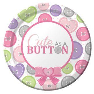 Cute as a Button Girl