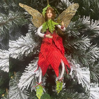 12' Woodland Fairy with Red Dress