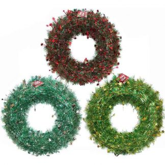 Deluxe Tinsel Wreath