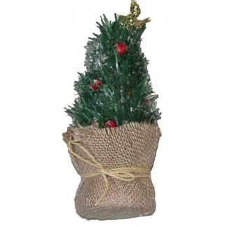 16cm Xmas Tree in Hessian Bag