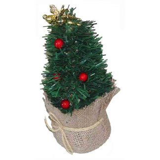21cm Angel Xmas Tree in Hessian Bag