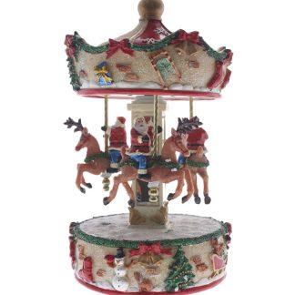 10' Xmas Carousel with Santa