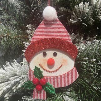 "7"" Snowman Ornament"
